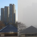 Beijing smog vs clear day