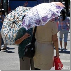 Chinese umbrellas against the sun